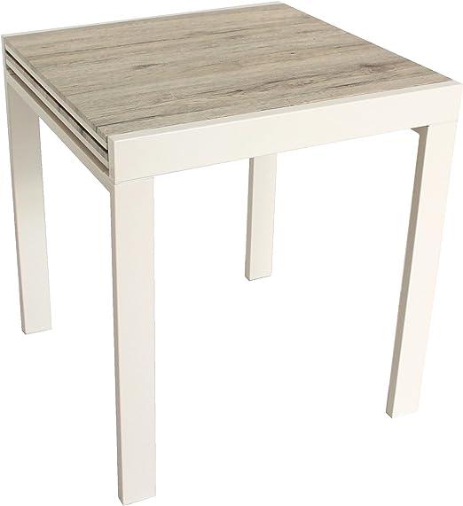 YELLOO Mod. SANREMO Mesa Bar Cocina 70x70 Extensible 70x140 cm ...