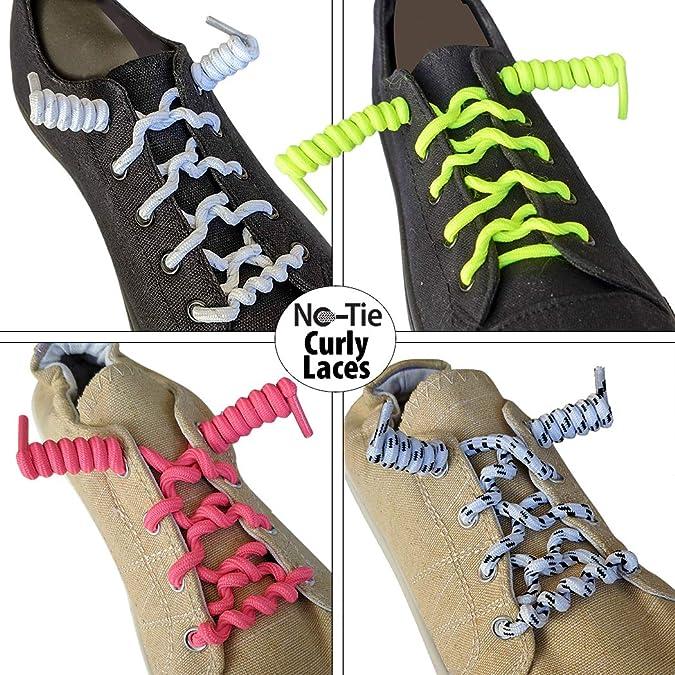 Tye Shoelaces Elastic Curly Stretchy