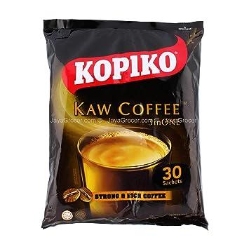 Kopiko Kaw Coffee 3 en 1 - Juego de 3 sobres para café (3 x ...