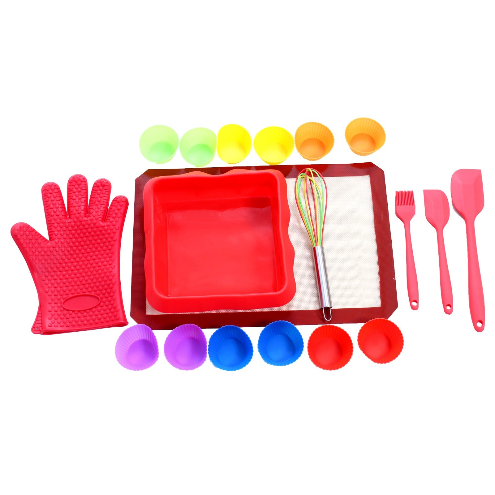 Baking Kit By UnicGlam Kids baking Set Girls Real Cupcake Making Kit One Complete Baking accessories for Beginners (Adult and Teens) and Professional Baking Lovers 19 Pieces Set