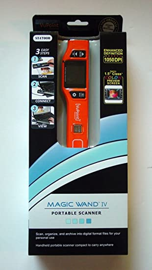 Amazon Com Vupoint Magic Wand 4 Scanner Pds St470or Vp Compact Portable Wand Scanner With 1 5 Color Viewfinder Electronics