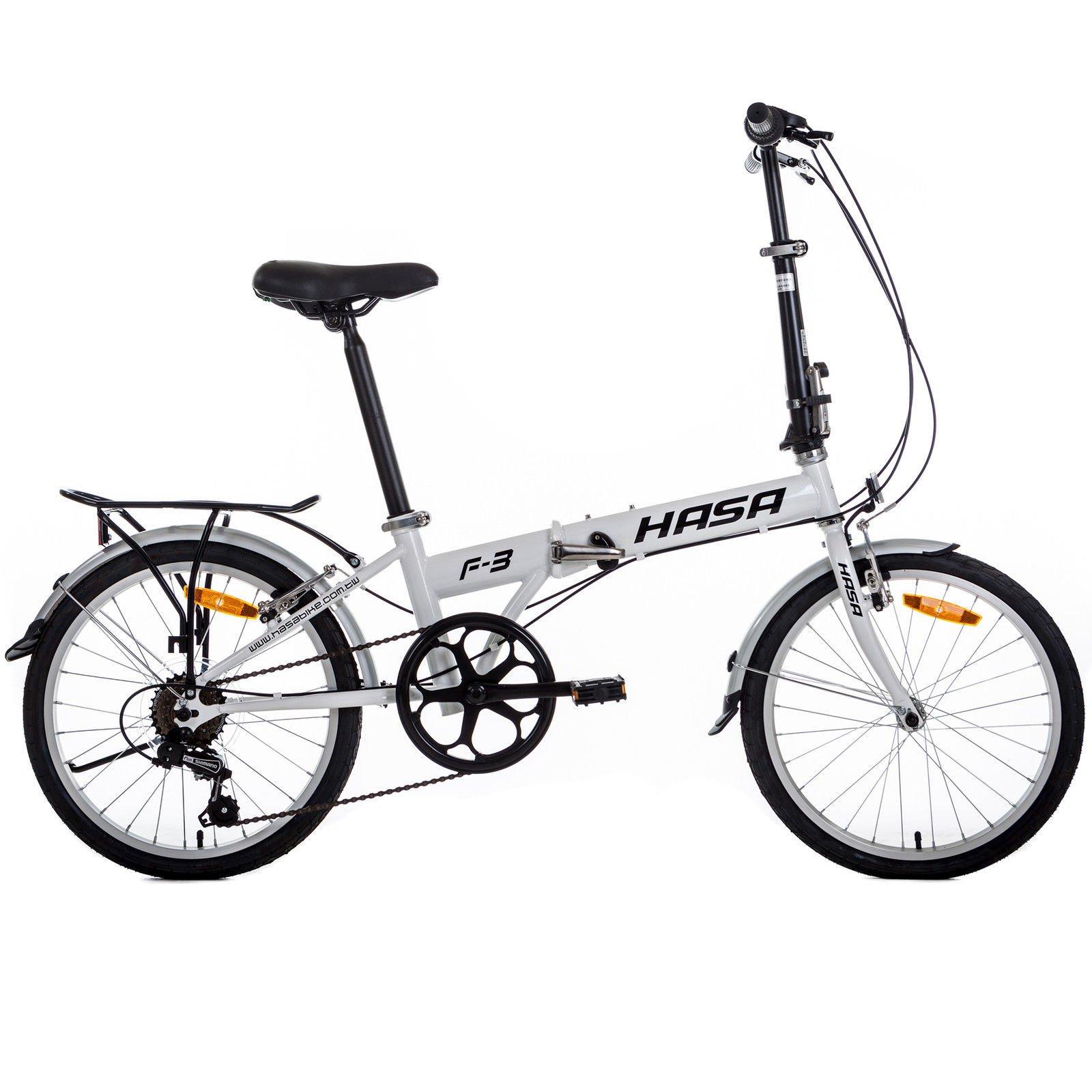 HASA Folding Foldable Bike Sram 6 Speed White