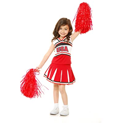 Charades USA Cheerleader Children's Costume, Small: Toys & Games