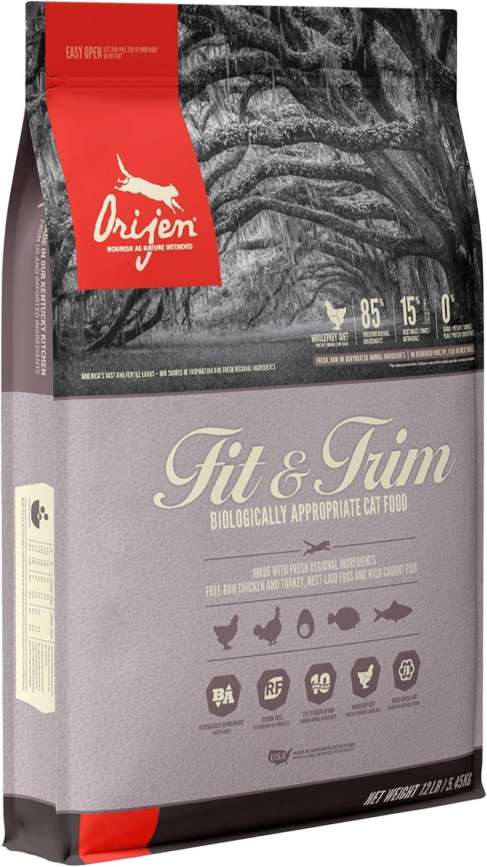 ORIJEN Fit & Trim High-Protein, Grain-Free, Premium Quality Meat, Dry Cat Food