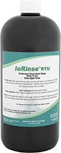 ioRinse RTU Ready-to-Use Mouth Rinse – Green Apple – 1 Liter Bottle Molecular Iodine Mouth Rinse. Alcohol Free and Fluoride Free. Used and Recommended by Hundreds of Dentists.