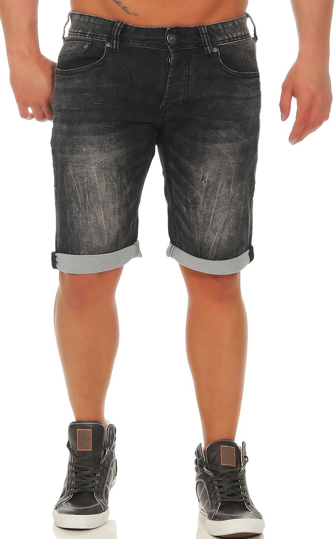 bb78a23bdb425b M.O.D Herren Denim Jogg Jeans Shorts MOD Thomas Kurze Hose Bermuda Vintage  Look Dehnbar Stretch Sweat Pants: Amazon.de: Bekleidung