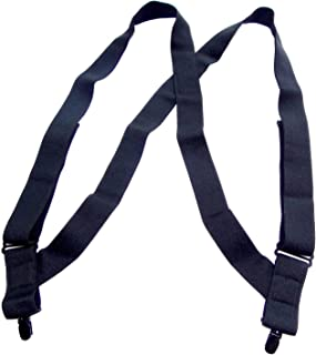 """product image for Holdup Brand All Black 1 1/2"""" Undergarment hidden Suspender in Hip Clip Style with Black No-slip Clips"""