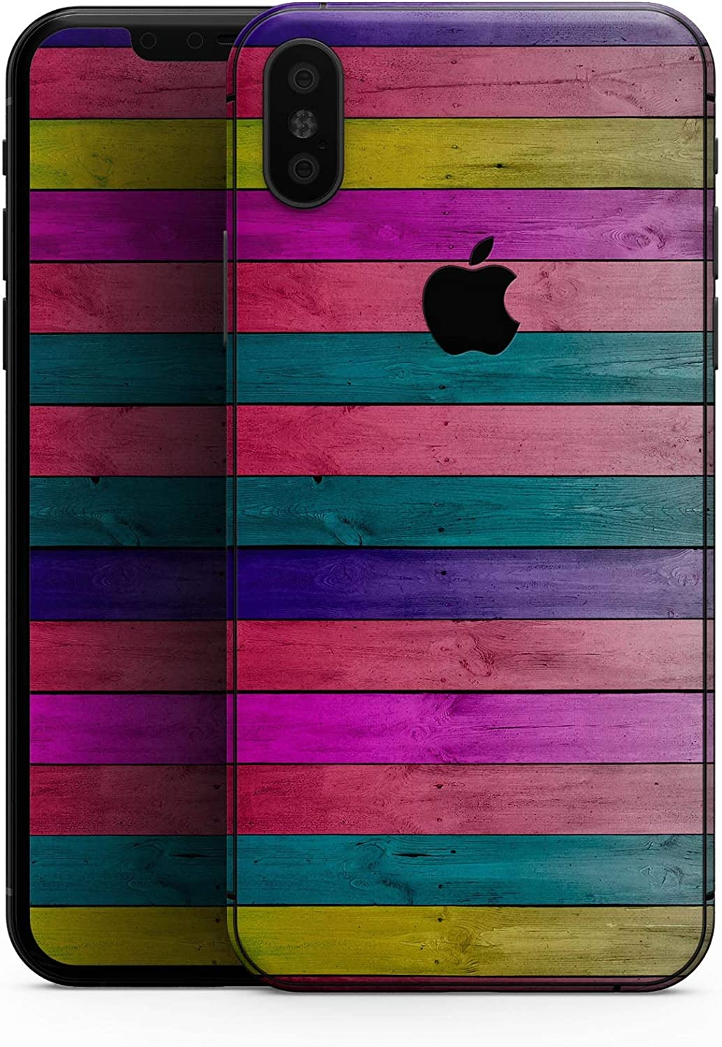 Vibrant Neon Colored Wood Strips - Design Skinz Premium Skin Decal Wrap for The iPhone 5s or SE