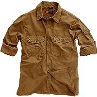 Outdoor de Safari de algodón camisa de Señor