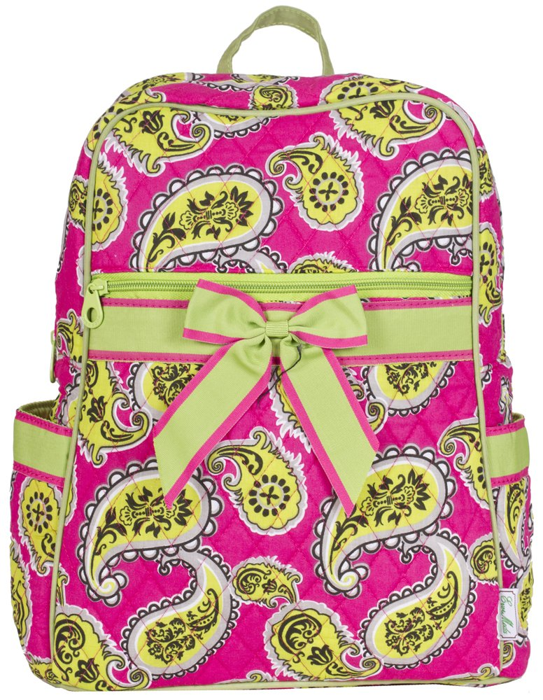 Ever Moda Paisley Quilted Backpack