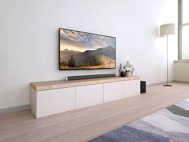 Dolby Digital Virtual Surround Sound Nero 80 watt Philips HTL1193B//98 Bluetooth Soundbar -Bluetooth Subwoofer Esterno