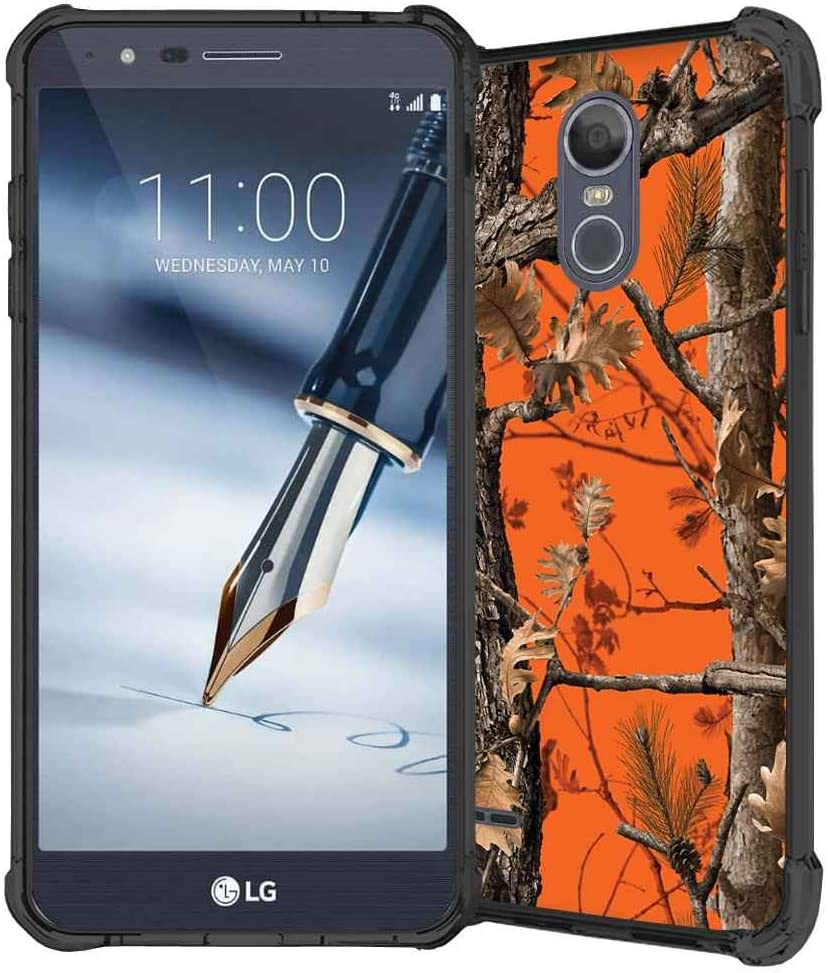 LG Stylo 3 Case, LG Stylo 3 Plus Case, LG Stylus 3 case, ABLOOMBOX Hunting Camo Fabric Camouflage Pattern Shock Absorption Soft Bumper Slim Rubber Protective Case Cover for LG LS777