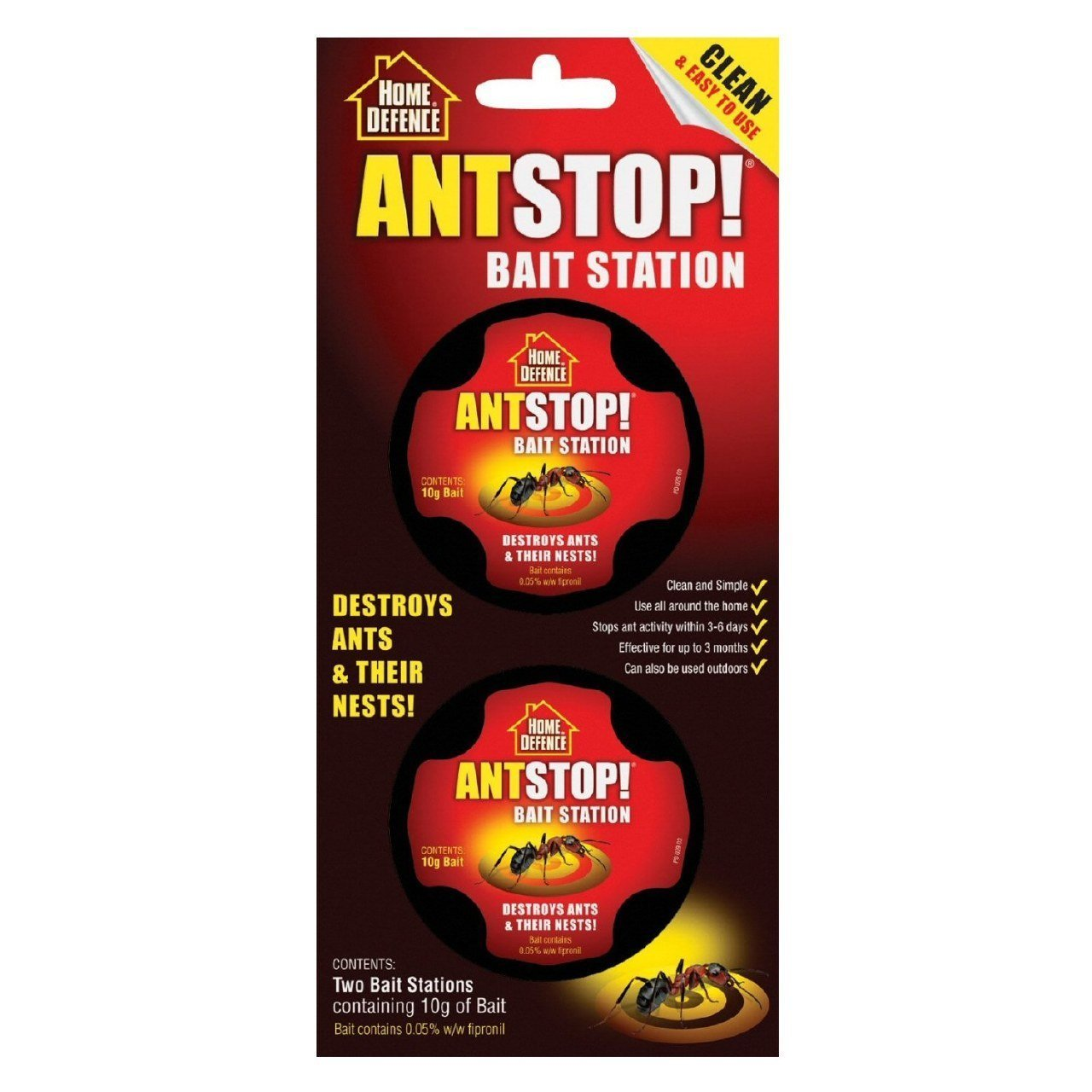 Ant Stop Bait Station (Individual pack contains 2 bait) Home Defence