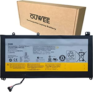 OUWEE L12M4P62 Laptop Battery Compatible with Lenovo Ideapad U530 Touch 80AS U530-20289 Series Notebook 121500199 L12L4P62 121500200 7.4V 52Wh 7100mAh 4-Cell (Long Cable)