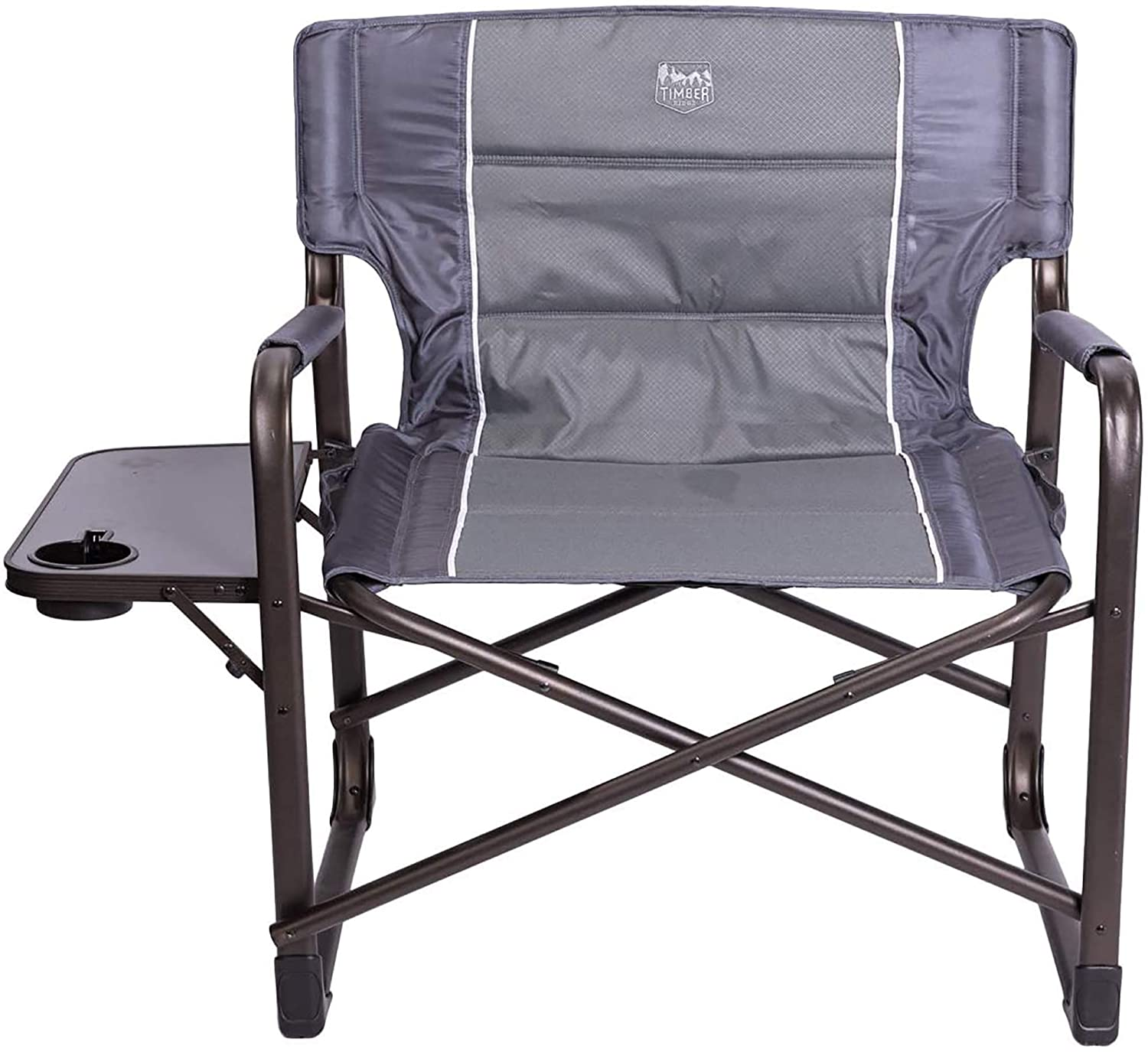 Coastrail Outdoor Oversized Director Chair 600lbs Heavy Duty for Camping 28 Wide Lawn Patio XXL Full Back Padded Camp Chair with Table /& Storage
