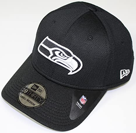 New Era Seattle Seahawks NFL 39THIRTY Black   White Neo Performance Flex  Fit Hat 89fa502e42cb