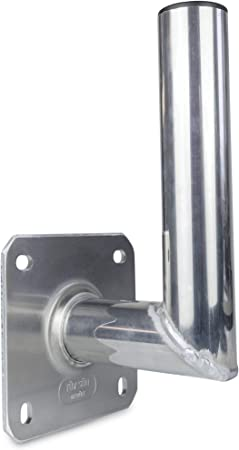 ASSat 10015 - Soporte de Pared para Antena parabólica (Aluminio, 15 cm, Certificado TÜV)