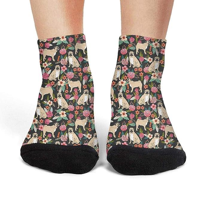 Blue vintage retro large sunflowers mens socks casual no fading compression socks pretty short socks Unisex