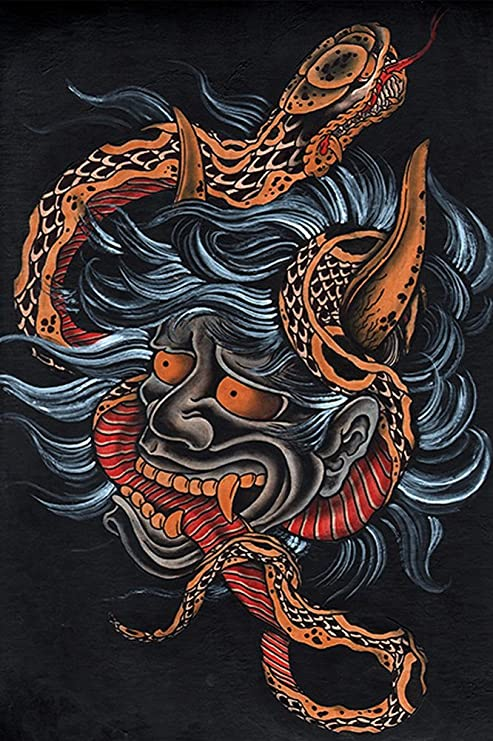 Amazon.com: scorned by Clark North japonés Devil Hannya ...