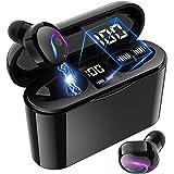 True Wireless Earbuds, Bluetooth 5.0 Headphone, in-Ear Button Control Hi-Fi Stereo Sound IPX5 Waterproof, Built-in Mic Earpho
