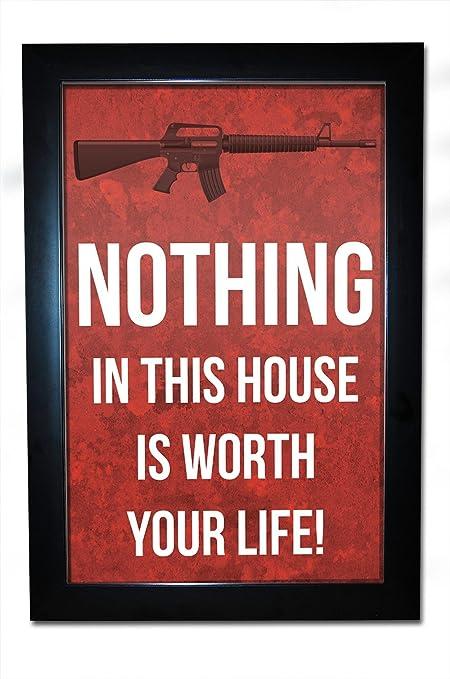 Amazon.com: Nada en esta Cámara Vale la pena tu vida. Framed ...