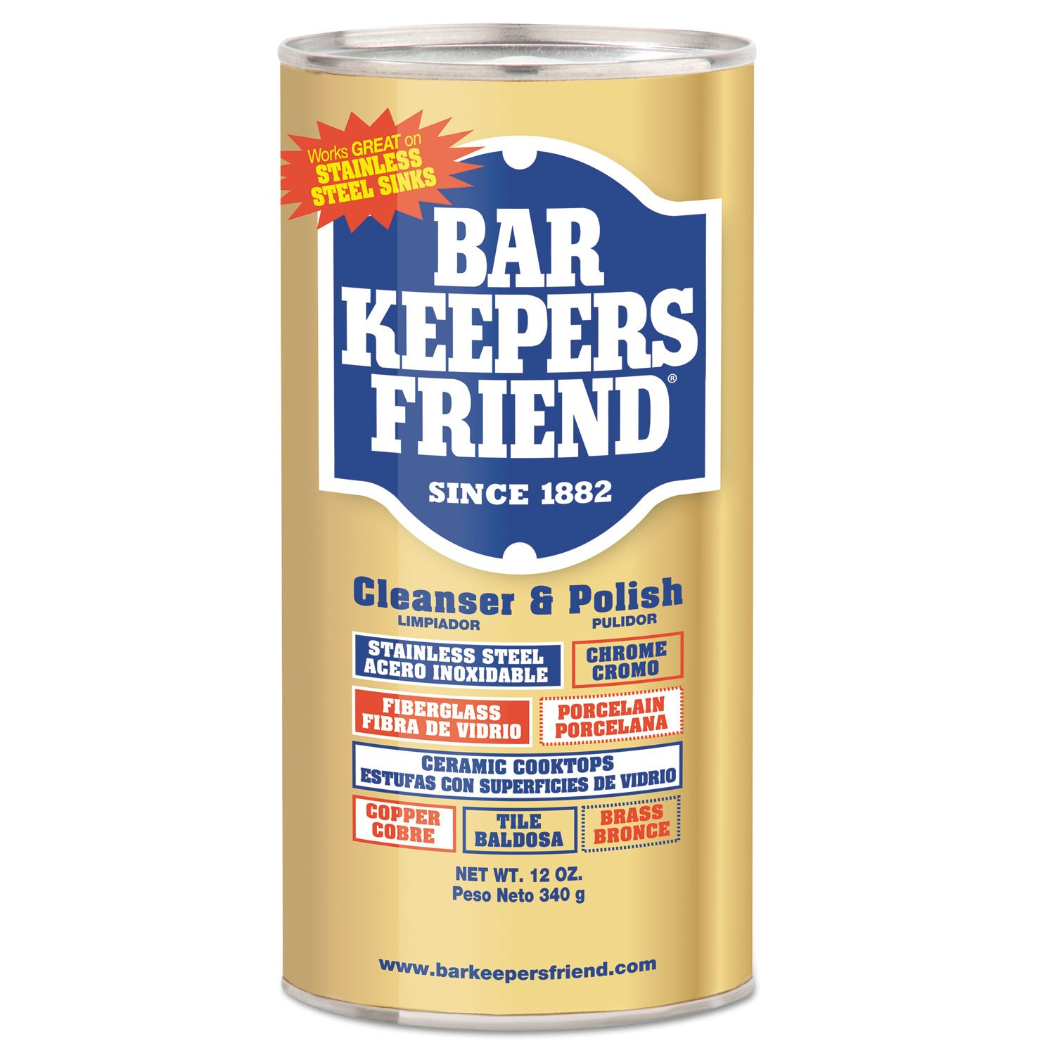 Amazon.com : Bar Keepers Friend Powdered Cleanser and Polish, 12 Oz Can, 12/Carton : Office Products