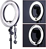 Neewer 10084201 Camera Photo Video 14in Outer 10in Inner 400W 5500K Photographic Lamp Ring Fluorescent Flash Light