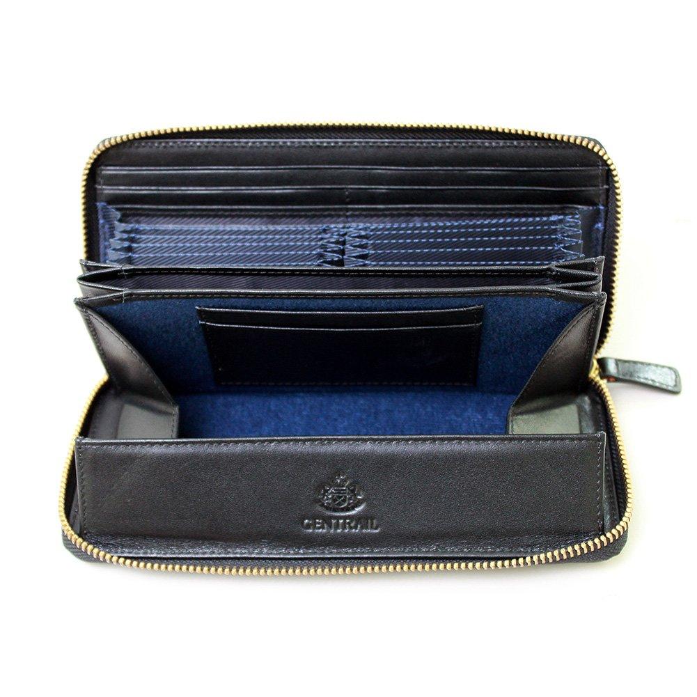 イタリアン レザー 多機能 長財布 B079NZSXF8 (GENTRAILジェントレイル長財布)ブラック (GENTRAILジェントレイル長財布)ブラック