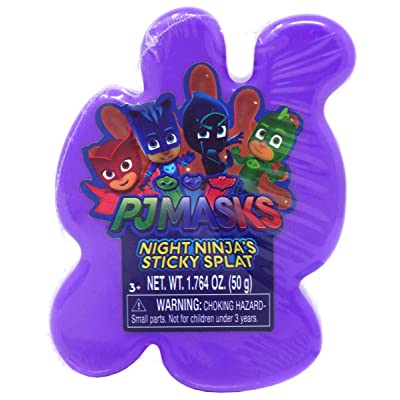 PJ Masks Sticky Splat Putty - Purple: Toys & Games