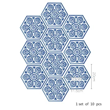 Frolahouse Kreative Blaue Und Weiße Porzellan Art Boden Aufkleber Fliesen  Aufkleber