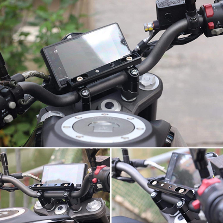 Juego de 2 Abrazaderas para Manillar de Motocicleta con Tornillos M8 de Aluminio de 22 a 28 mm para Montaje de Motocross OTOTEC Color Negro