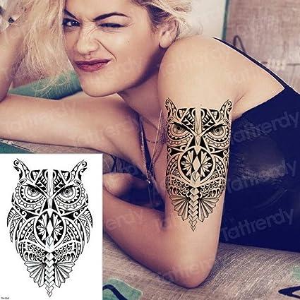 adgkitb 3 Piezas Hoja y pequeño Tatuaje de Rugido de león Conjunto ...