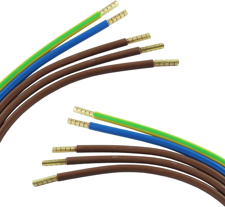 Elektro-Verdrahtungssatz Zählerabgang 10mm² 3x braun 58cm blau//grün-gelb 110cm