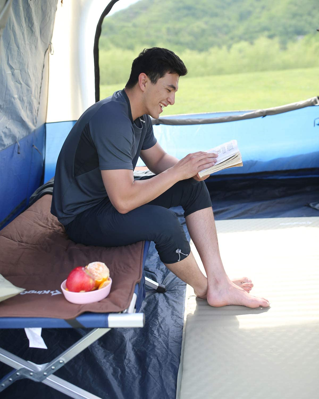 KingCamp Lit de Camping Pliable en Aluminium avec Sac de Transport