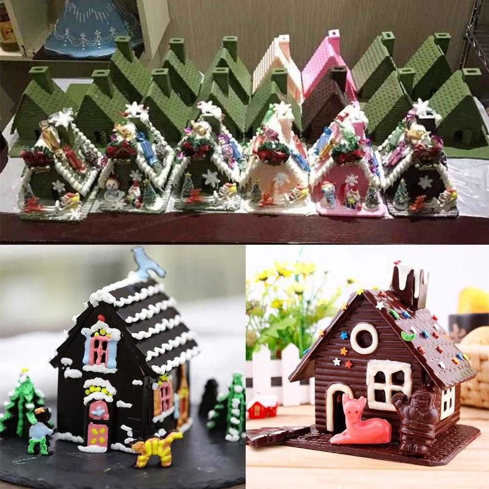 Taloyer Christmas Mini Gingerbread House Mold 3D Cake Cupcake Cookies Cutter Mould DIY Baking Decorating Tools (Random)) by Taloyer (Image #4)