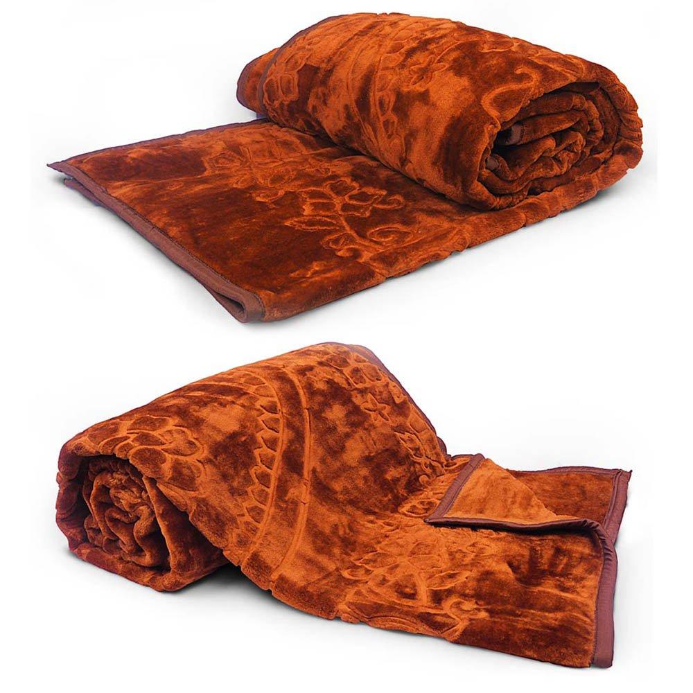 Little India Supersoft Korean Single Bed Embossed Blanket Pair 1092
