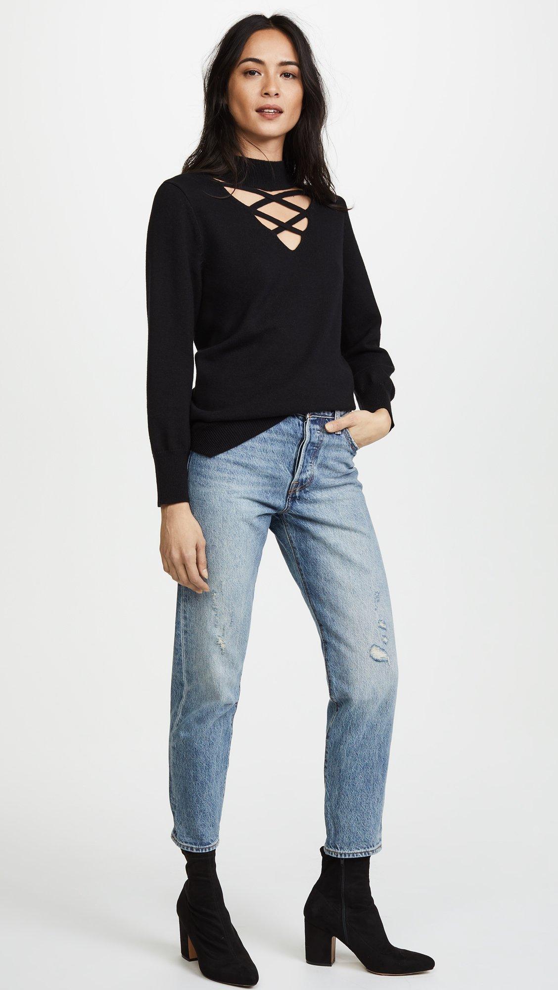 LNA Women's Joey Detached Sweater, Black, Small by LNA (Image #5)