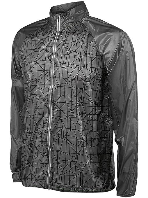Brooks Hombre Unidad Chaqueta Impermeable Outdoor Chaqueta de Sport Chaqueta de LSD Jacket Gris – 210838