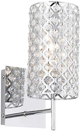 Possini Euro Design Glitz 12 12 High Crystal Wall Sconce Crystal