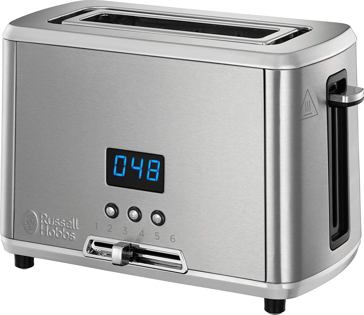 727fd9635 Russell Hobbs Compact Home Small Toaster, One Slice with Digital Countdown  Display, Stainless Steel, 24200: Amazon.co.uk: Kitchen & Home