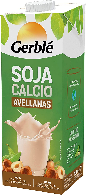 Gerblé - Soja - Bebida de Soja Calcio con Sabor Avellanas - 1 l: Amazon.es: Alimentación y bebidas
