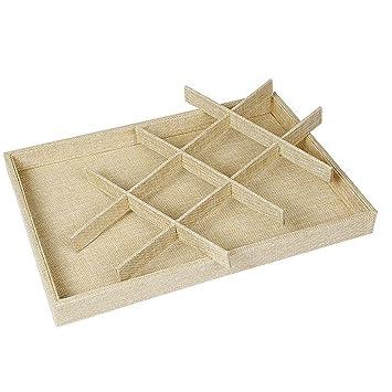 UHUA 12 rejillas caja de almacenamiento pulseras pendientes caja expositor joyería bandeja Showcase