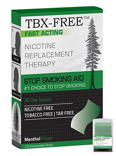 TBX-Free Dejar de fumar tira Oral ayuda 120 tiras mentol