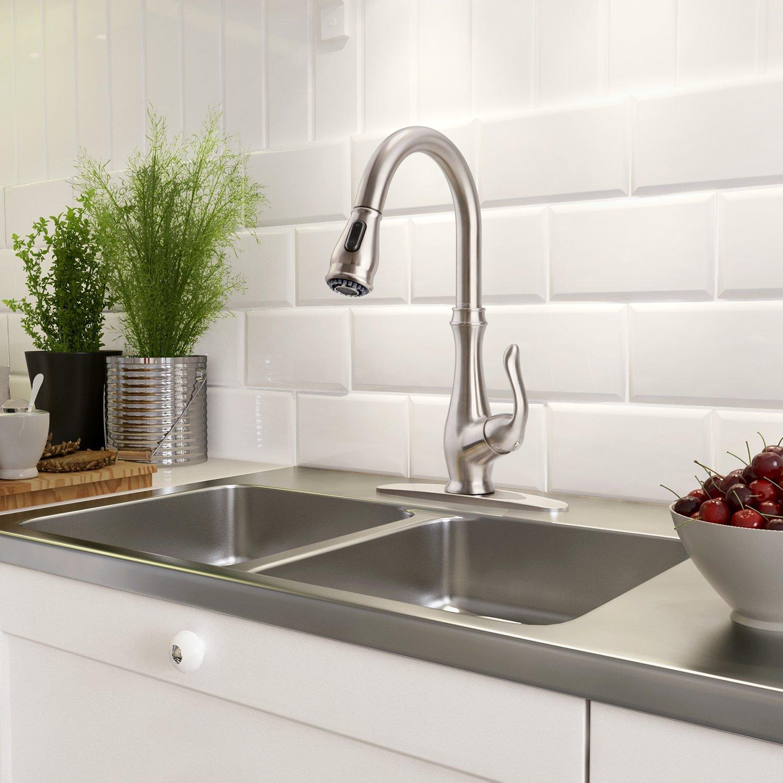 clofy diy kitchen sink faucet 70cm 28 nano single handle pull