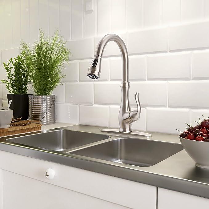 clofy Modern Single Griff Pull Out Sprayer Küche Spüle Wasserhahn ...