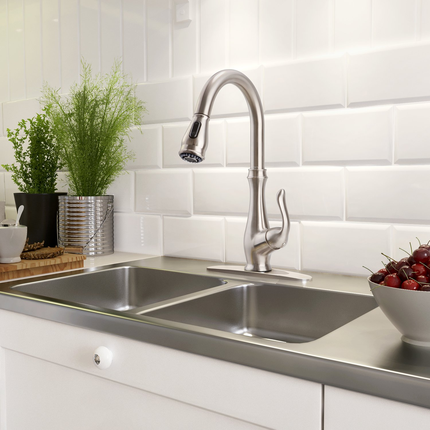 up nickel hole polished bathroom pop faucet single kitchen ideas drain with brushed faucets engle throughout