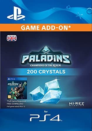 200 Paladins Crystals [PS4 PSN Code - UK account]: Amazon co uk: PC