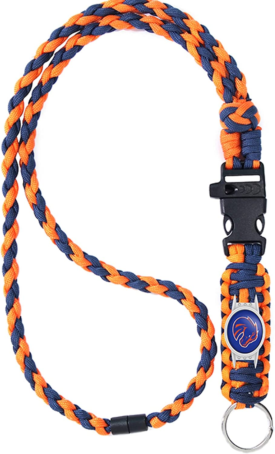 Neck Clasp and Keychain Release/… Swamp Fox Boise State Broncos Paracord Lanyard with Team Charm