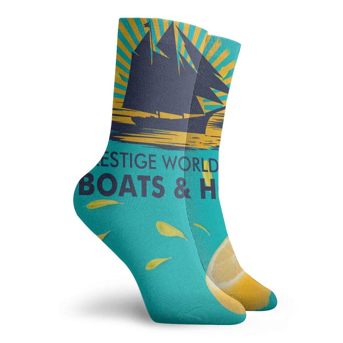 Boats Hoes Mens Fashion Dress Socks Short Socks Leisure Travel 11.8 Inch