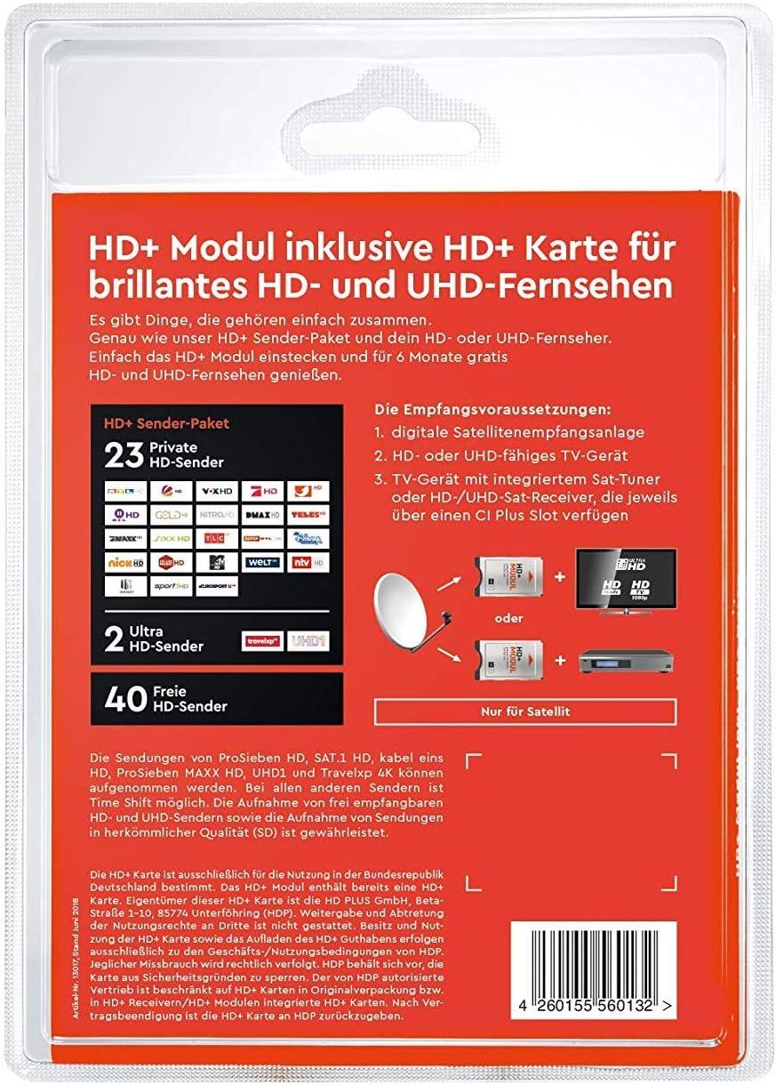 SmardTV CI+ - Módulo CI+ de televisión de pago (programas HD, 12 ...